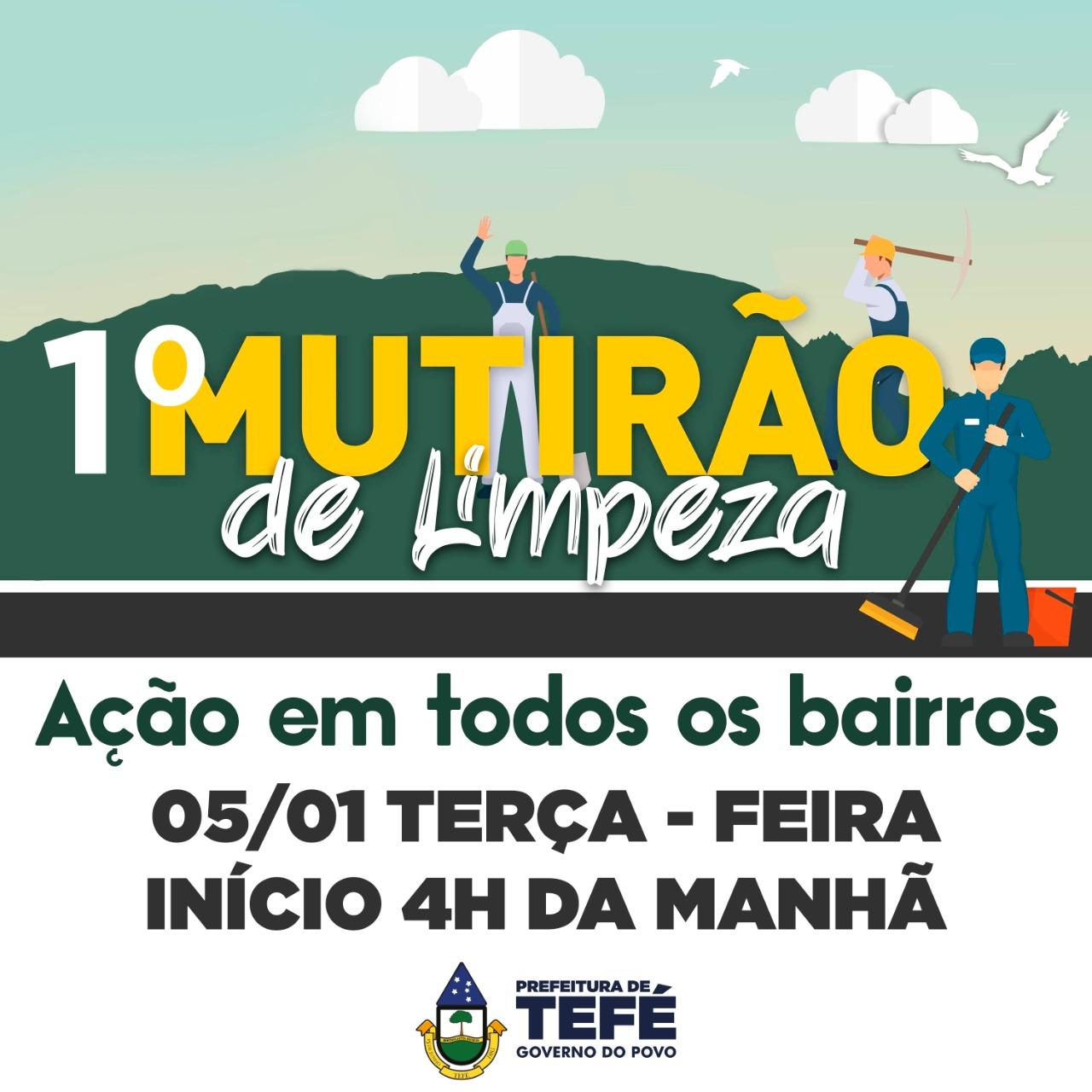 PREFEITURA DE TEFÉ INICIA MUTIRÃO DE LIMPEZA NOS BAIRROS DA CIDADE